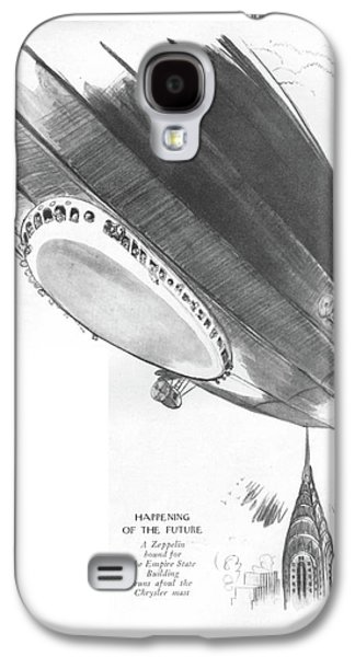 Happening Of The Future A Zeppelin Bound Galaxy S4 Case by Garrett Price