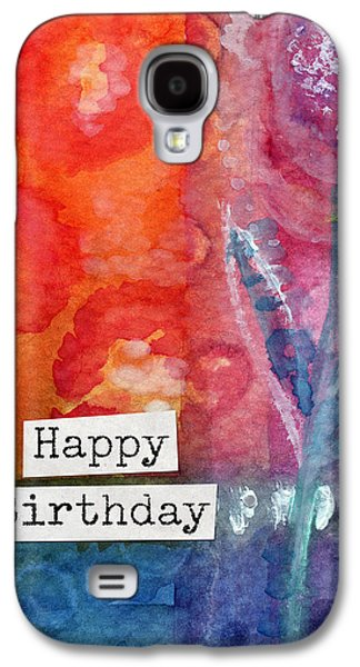 Happy Birthday- Watercolor Floral Card Galaxy S4 Case by Linda Woods