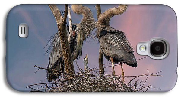 Heron Galaxy S4 Case - Happy Family Trio by Kevin Wang