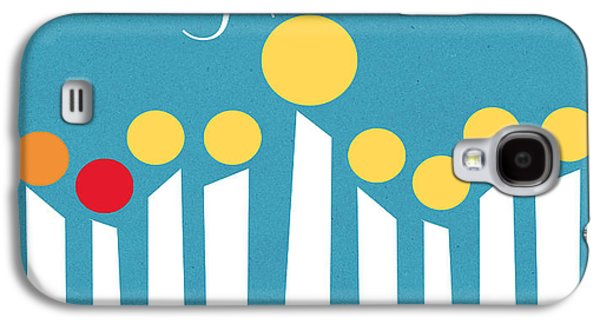 Happy Hanukkah Menorah Card Galaxy S4 Case by Linda Woods