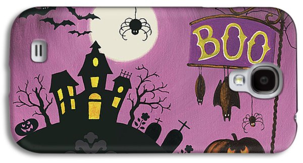 Happy Haunting Boo Galaxy S4 Case by Lisa Audit
