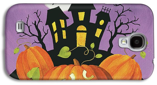 Happy Haunting House On Pumpkins Galaxy S4 Case by Lisa Audit