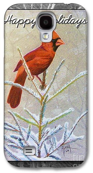 Happy Holidays Galaxy S4 Case by Marilyn Smith