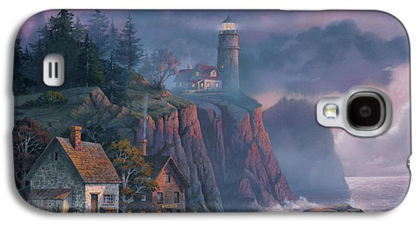 Galaxy S4 Case - Harbor Light Hideaway by Michael Humphries