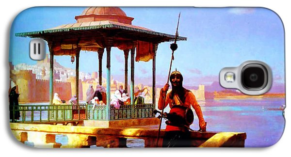 Harem In The Kiosk The Guardian Of The Seraglio 1870 Galaxy S4 Case by MotionAge Designs