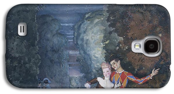 Harlequin And A Lady Galaxy S4 Case by Konstantin Andreevic Somov