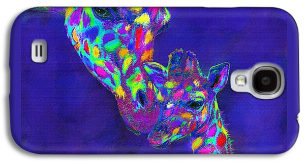 Harlequin Giraffes Galaxy S4 Case by Jane Schnetlage