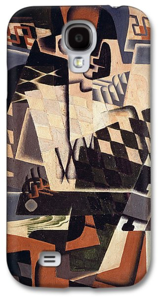 Harlequin With A Guitar, 1917 Galaxy S4 Case by Juan Gris