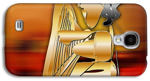 Galaxy S4 Case featuring the digital art Harp Player by Marvin Blaine