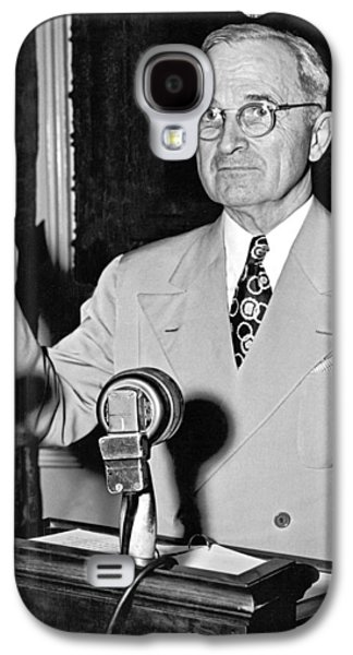 Harry Truman Press Conference Galaxy S4 Case by Underwood Archives