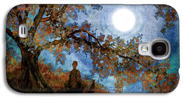 Harvest Moon Meditation Galaxy S4 Case by Laura Iverson