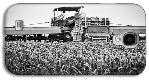Galaxy S4 Case featuring the photograph Harvesting Time by Ricky L Jones