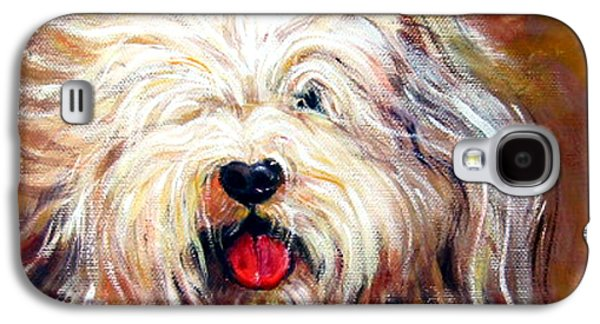 Harvey The Sheepdog Galaxy S4 Case by Rebecca Korpita