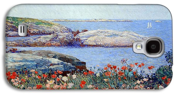 Hassam's Poppies On The Isles Of Shoals Galaxy S4 Case by Cora Wandel