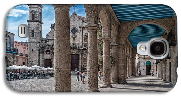 Havana Cathedral And Porches. Cuba Galaxy S4 Case