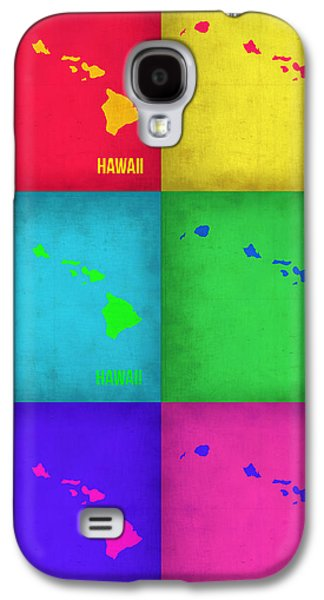 Hawaii Pop Art Map 1 Galaxy S4 Case by Naxart Studio