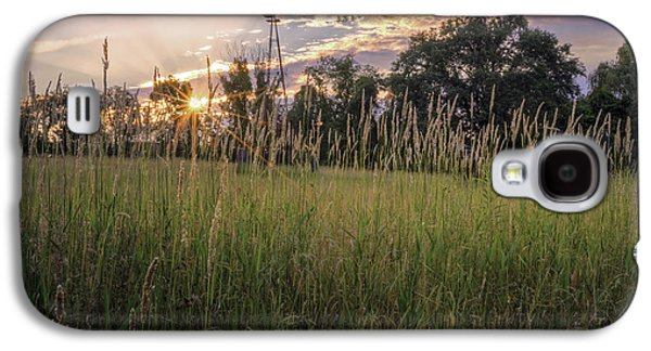 Hay Field Sunset Galaxy S4 Case by Bill Wakeley