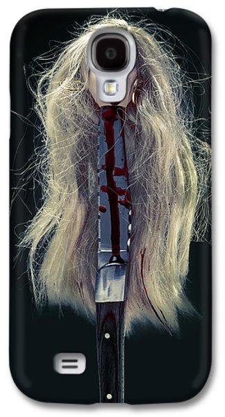 Head And Knife Galaxy S4 Case by Joana Kruse