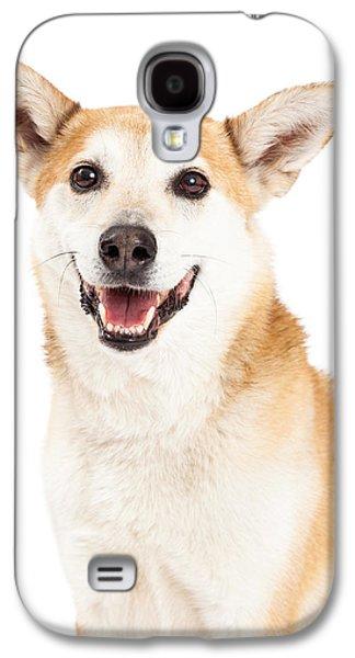 Head Shot Of  Australian Cattle And Shiba Inu  Mix Dog Galaxy S4 Case by Susan Schmitz