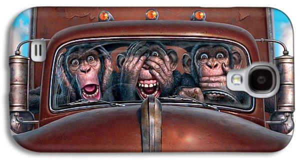 Truck Galaxy S4 Case - Hear No Evil See No Evil Speak No Evil by Mark Fredrickson