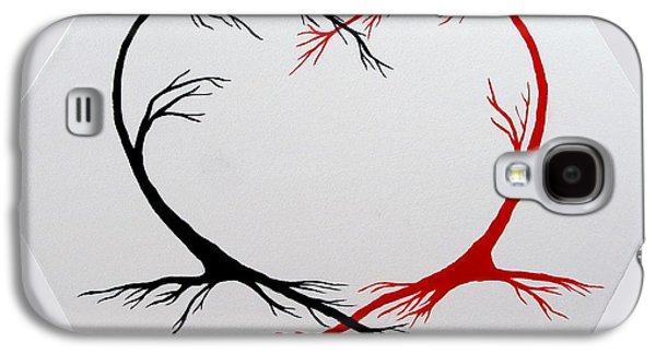 Heart Trees - Arteries Of Love Galaxy S4 Case by Marianna Mills