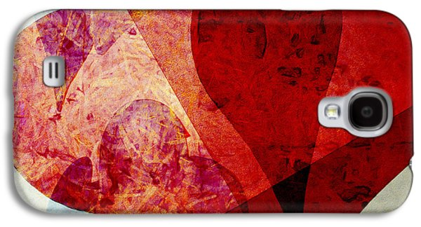 Hearts 5 Square Galaxy S4 Case by Edward Fielding