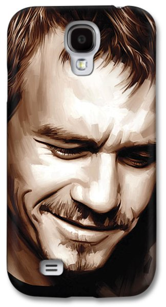 Heath Ledger Artwork Galaxy S4 Case by Sheraz A