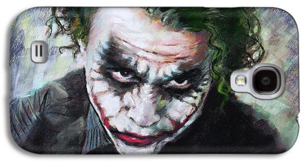 Heath Ledger The Dark Knight Galaxy S4 Case by Viola El