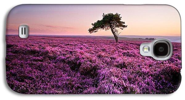 Heather At Sunset Egton Moor Galaxy S4 Case by Janet Burdon