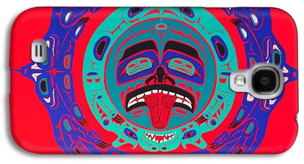 Heiltsuk Sun Four Bears Galaxy S4 Case by Fred Anderson jr