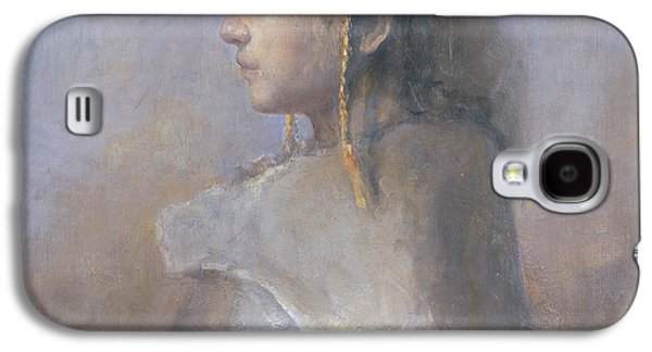 Helene In Profile  Galaxy S4 Case by Odd Nerdrum