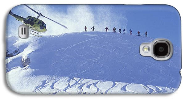 Heliskiing, Whistler, Bc, Canada Galaxy S4 Case by Insight Photography