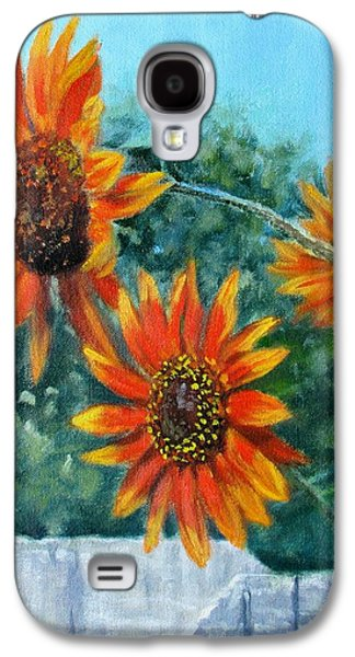 Hello Neighbor-sunflowers Over The Fence Galaxy S4 Case