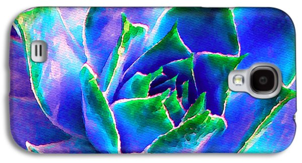Hens And Chicks Series - Touches Of Blue  Galaxy S4 Case by Moon Stumpp