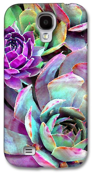 Hens And Chicks Series - Urban Rose Galaxy S4 Case by Moon Stumpp