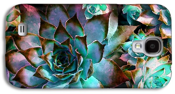 Hens And Chicks Series - Verdigris Galaxy S4 Case by Moon Stumpp