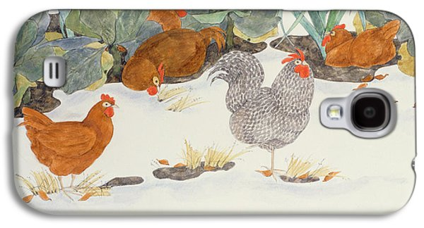 Hens In The Vegetable Patch Galaxy S4 Case by Linda Benton