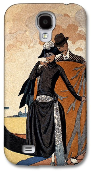 Her And Him Fashion Illustration Galaxy S4 Case by Georges Barbier
