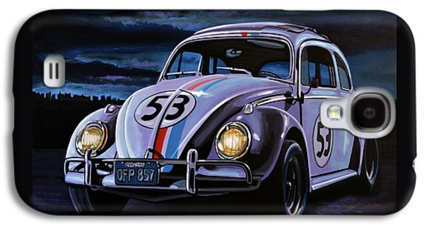 Herbie The Love Bug Painting Galaxy S4 Case by Paul Meijering