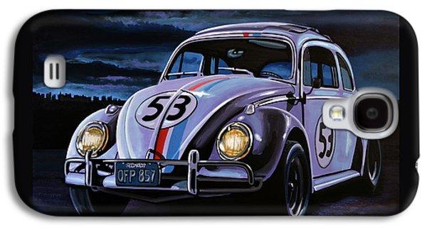 Banana Galaxy S4 Case - Herbie The Love Bug Painting by Paul Meijering