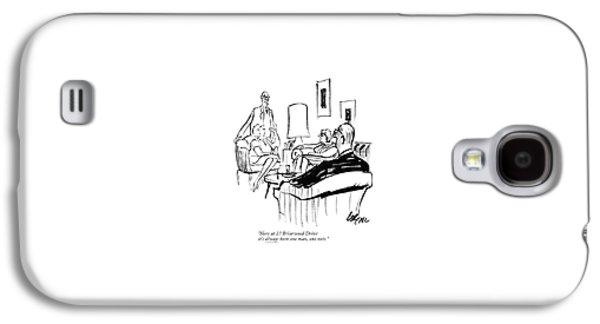 Here At 27 Briarwood Drive It's <u>always<$> Galaxy S4 Case by Lee Lorenz