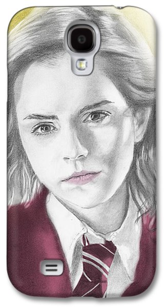 Hermione Granger - Individual Yellow Galaxy S4 Case by Alexander Gilbert