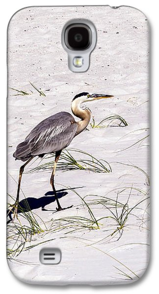 Egret Galaxy S4 Case - Heron On The White Sand by Zina Stromberg
