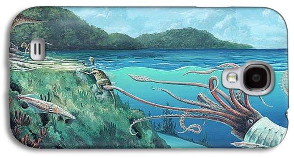 Heteromorph Ammonite Attack Galaxy S4 Case by Richard Bizley