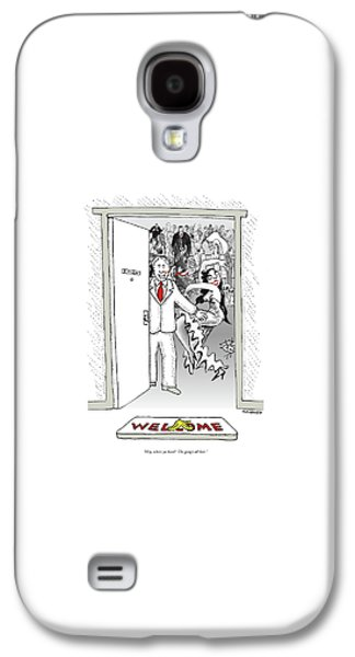 Hey, Where Ya Been?  The Gang's All Here Galaxy S4 Case by Robert Mankoff