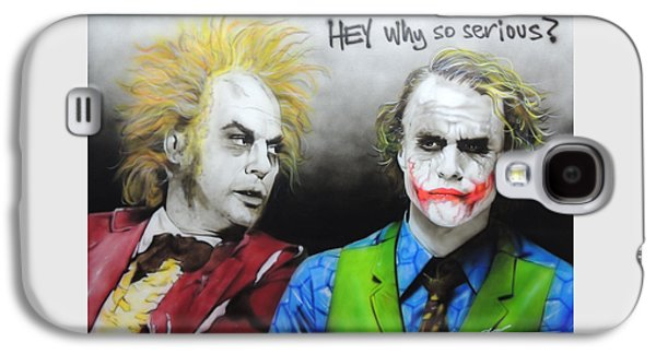 Heath Ledger Galaxy S4 Case - Hey, Why So Serious? by Christian Chapman Art