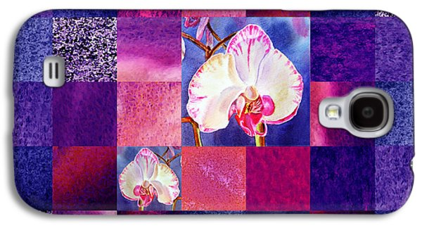 Hidden Orchids Squared Abstract Design Galaxy S4 Case by Irina Sztukowski