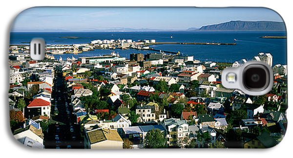 High Angle View Of A City, Reykjavik Galaxy S4 Case by Panoramic Images