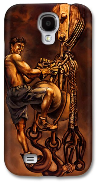 High Steel Worker Galaxy S4 Case