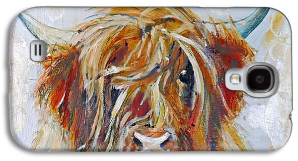 Highland Cow Galaxy S4 Case by Peter Tarrant